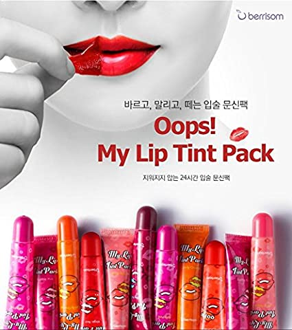 Berrisom] Oops My Lip Tint Pack Lip Stain Tatoo # Virgin Red (Real ...