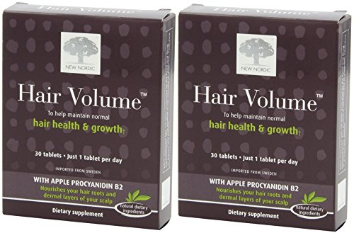 New Nordic Hair Volume, 30 Count (2 Pack)