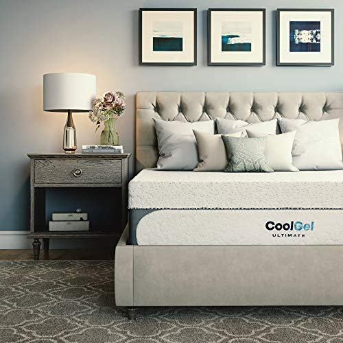 Classic Brands Cool Gel 1 0 Ultimate Gel Memory Foam 14 Inch Mattress With Bonus Pillow Full White