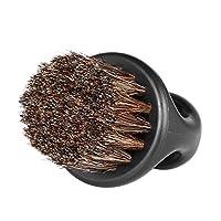 Anself Men's Beard Brush Barber Hair Sweep Brush Mustache Shaving Brush for Hairdressing Salon Household (Black)