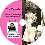 New Hampshire History and Genealogy- 165 Books on DVD From the 18th to 20th Century - Ancestry, Records, Family