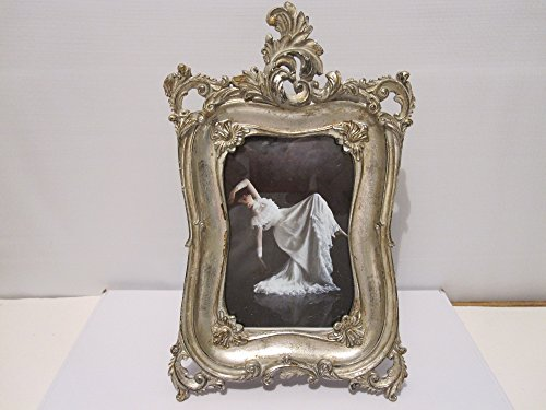 """Antique Looking Silver Ornate Victorian Style 4"""" X 6"""""""