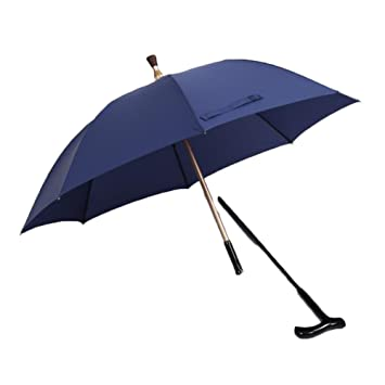 6422a82ecbf3 Amazon.com: ZHILIAN Old Man's Stick Umbrella Long Handle Men's ...