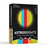 Astrobrights Colored Cardstock, 8.5'' x 11'', 65 lb/176 gsm, Mixed Carton 5-Color Assortment, 1250 Sheets (98751)