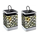 Espier Solar Candle Lantern, Solar Lights Outdoor Flickering Flame Effect Decorative Lamp for Garden Tree Yard Lawn Party, Waterproof Auto On Off(2 pack) Review
