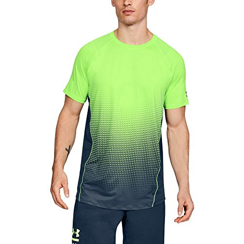 Under Armour Men's MK-1 Dash Fade Short Sleeve Shirt, Quirky Lime (752)/Graphite, Large