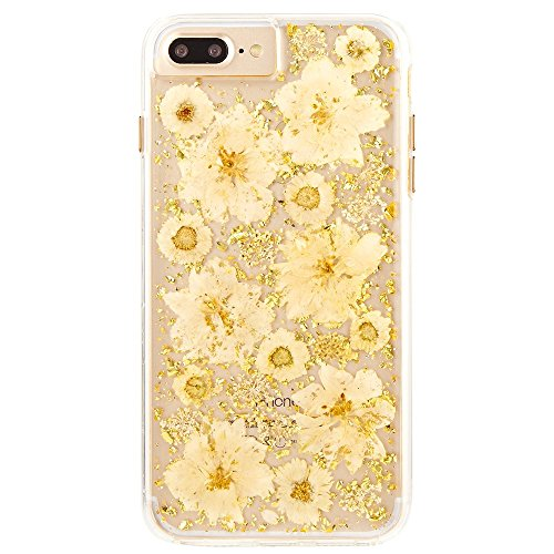 (Case-Mate iPhone 8 Plus Case - KARAT PETALS - Made with Real Flowers - Slim Protective Design for Apple iPhone 8 Plus - Antique White)