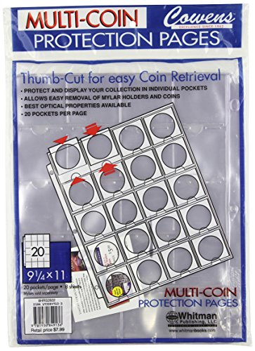 Multi-Coin Protection Pages: 20 Pockets / Page – 8 Sheets
