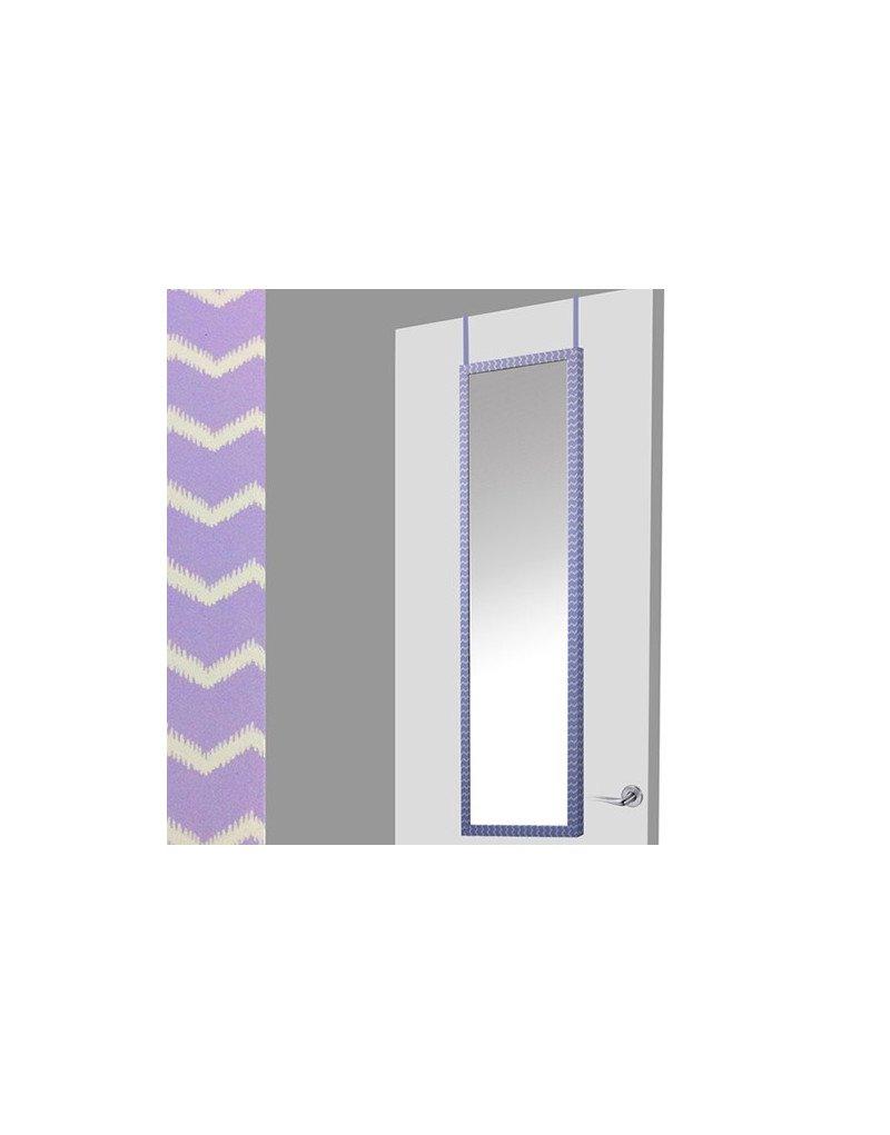 Home Line Espejo para Puerta Morado//Blanco Zigzag