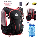 TRIWONDER Hydration Pack Backpack 5L Lightweight Deluxe Marathoner Running Race Hydration Vest (Black (S-M) – with 1.5L Water Bladder)