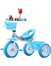 LovemyhomeDD Steel Children's Tricycle 1-3 Year Old Baby Toddler Toy