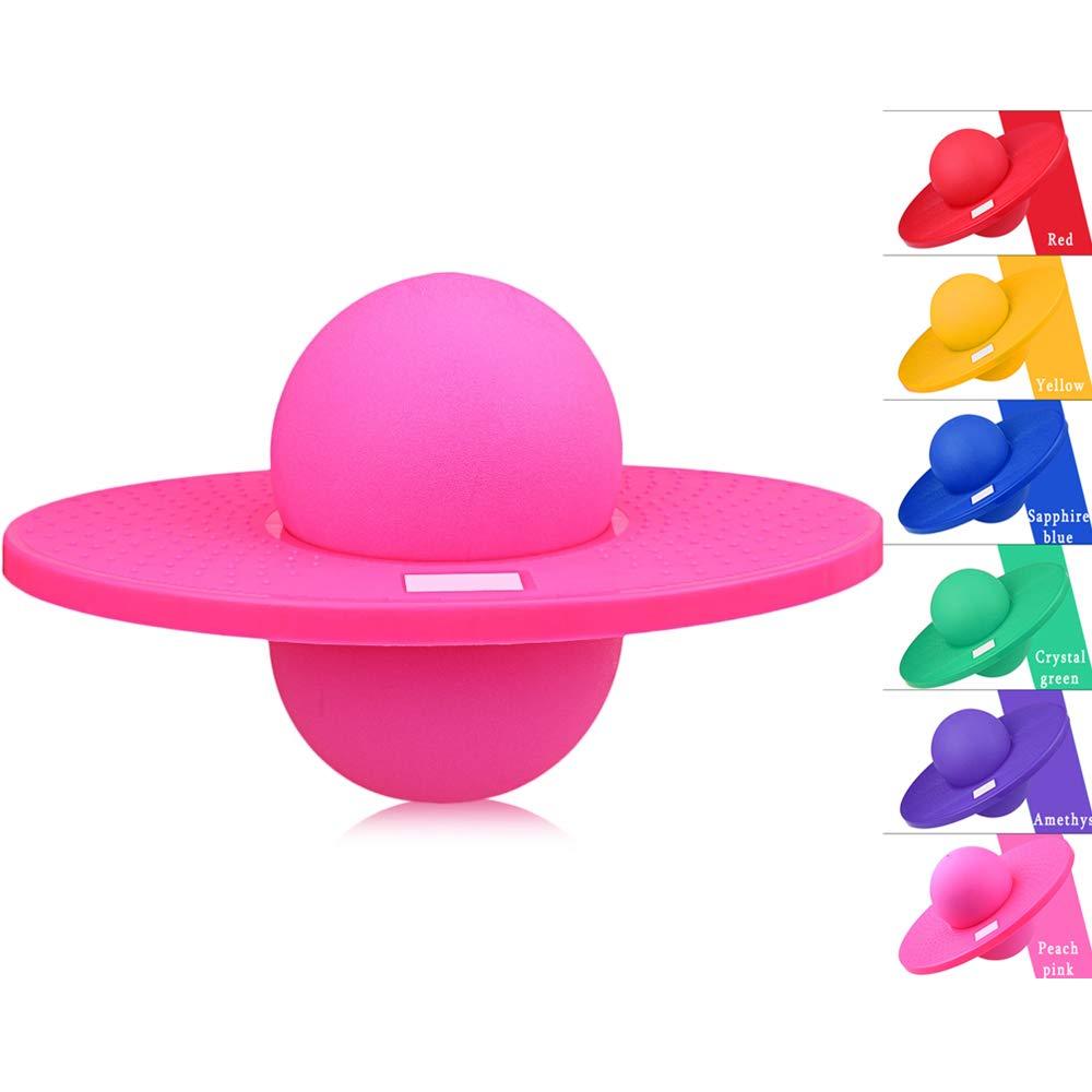 BISOZER ポゴボール ホップアンドホップ ポゴホッパー ポゴボール ファンホッパー スポーツ 高バランス バウンス ジャンプ ボードボール プラットフォーム フィットネス ボール エアロビクスバランスとコーディネーションエクササイズ用 B07J3BQG57 ピンク ピンク