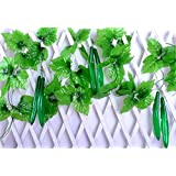 "Mynse 2 Pieces Plastic Cucumber Rattans Artificial Fruit Fake Vegetables Vines Ivy Hang Rattan Leaves for Home Garden Kindergarten Fruit Shop Farmhouse Ceiling Decoration (94"")"