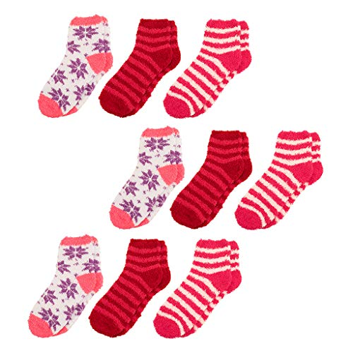Women Socks Warm Fuzzy Fluffy Socks(9 pairs) Super Soft Cozy Home Slipper Socks