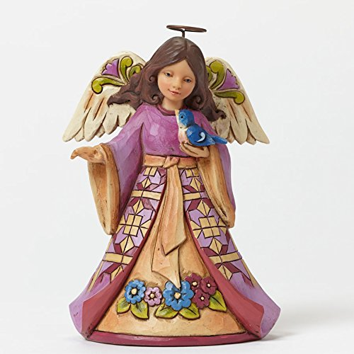 Sing The Prayer In Your Heart-Pint-Sized Angel With Bluebird Figurine