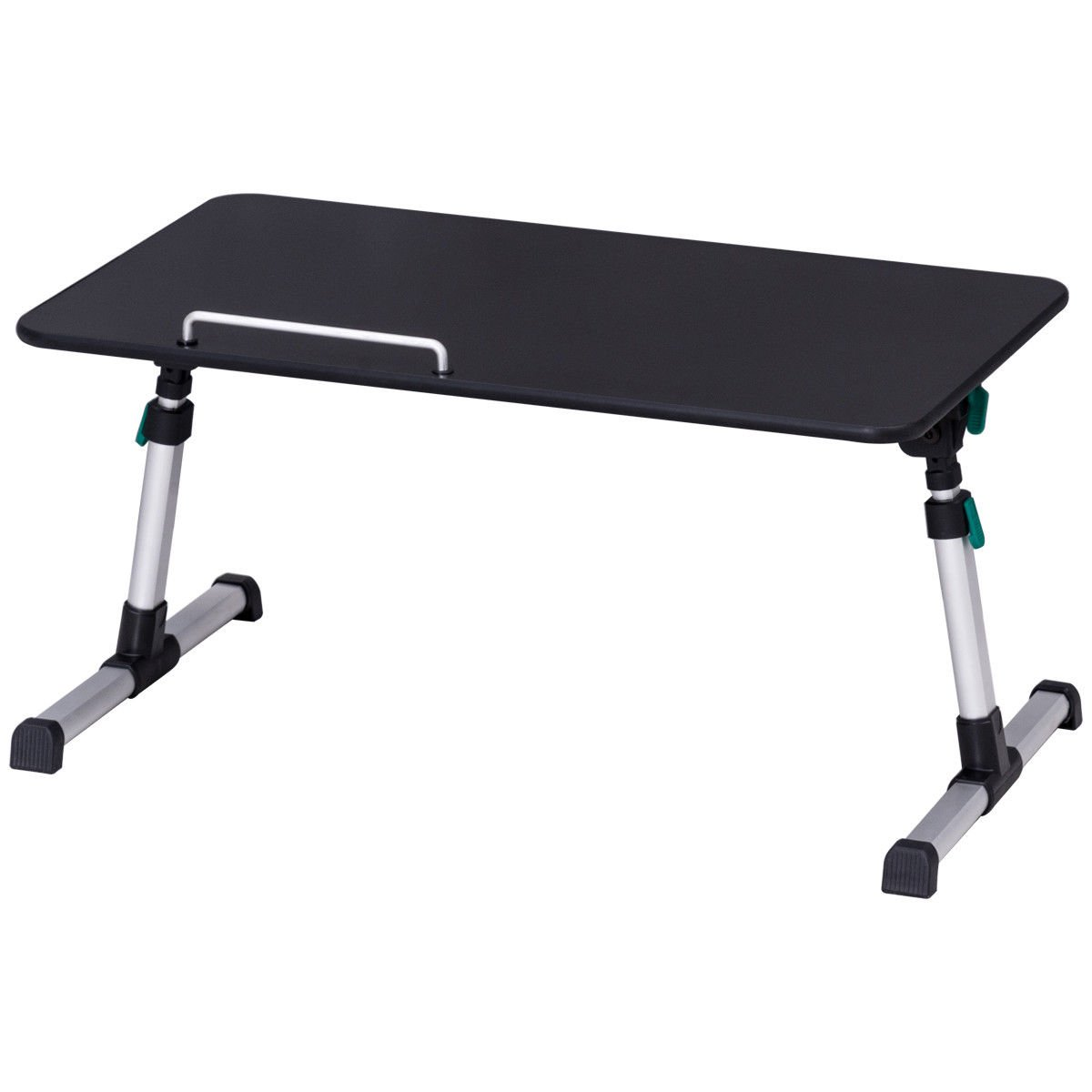 Caraya Height Adjustable Laptop Bed Tray Table Standing Desk Breakfast Tray Portable Black