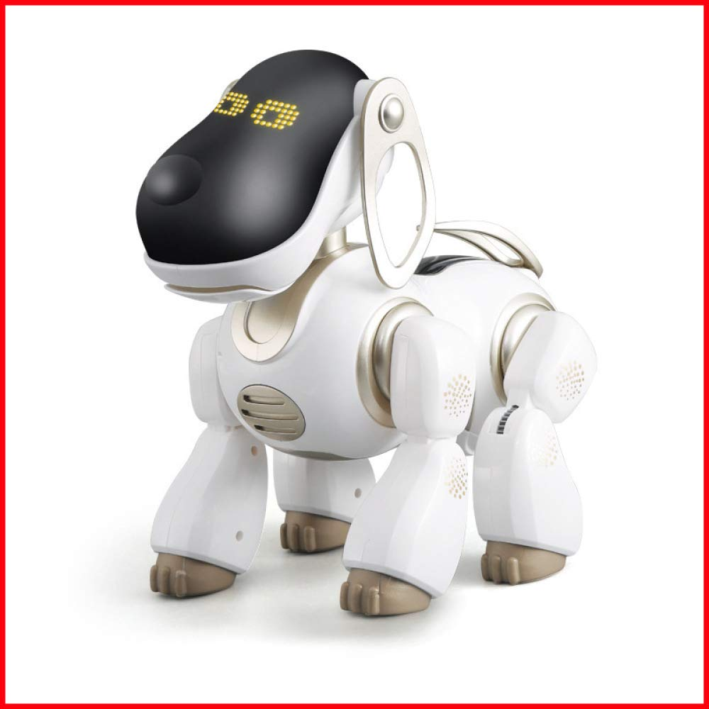 Gold SJHFDICKJFIF Smart roten Roboter Hund,Multi-Funktions Wireless Fernbedienung Elektronischer Haustier Tanzt Musik,reagiert Auf Berührungen Interaktiver,Geburtstagsgeschenk Für Kinder,Gold