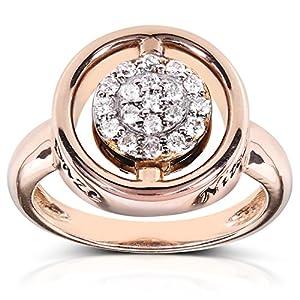 Reversible Black and White Diamond Fashion Ring 1/2 carat (ctw) in 14k
