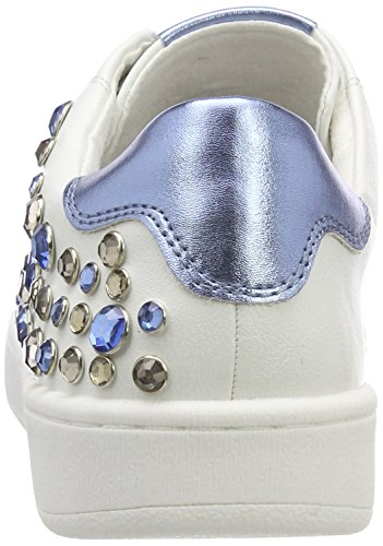 Blue Femme Blanc Tozzi Basses 23769 White Sneakers Marco qwS7TUp