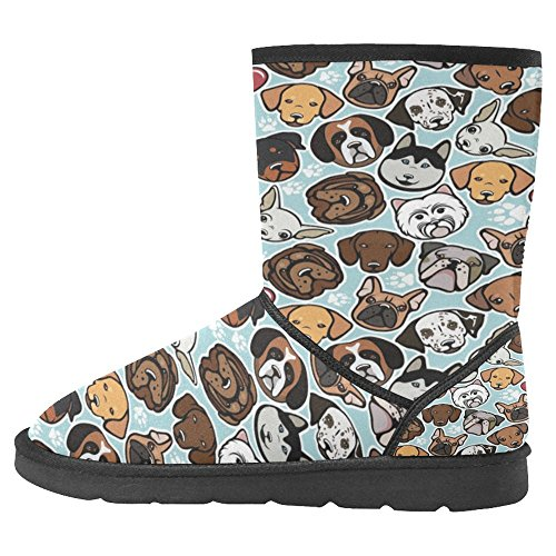 InterestPrint Womens Snow Boots Unique Designed Comfort Winter Boots Colorful Dogs Multi 1 iM6Q0