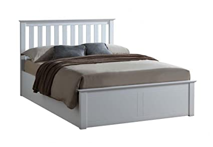 timeless design 78f45 7ae5a Birlea Phoenix 4FT Small Double - 120cm Wooden Ottoman Storage Bed White