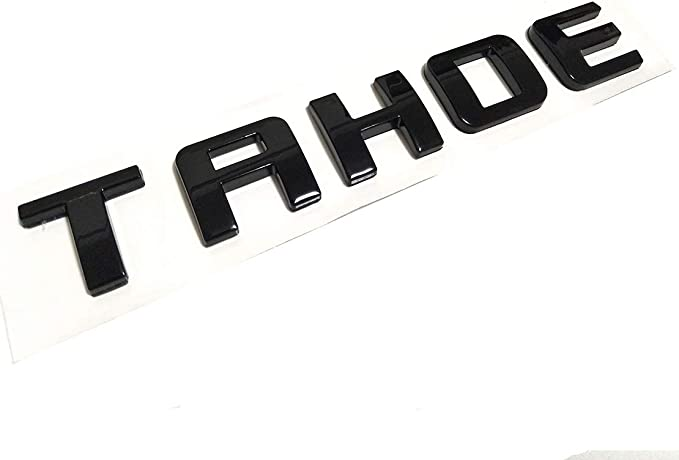 Yuauto TAHOE Nameplate Car Emblems Letter Badge for 07-16 TAHOE Chevrolet Glossy Shine