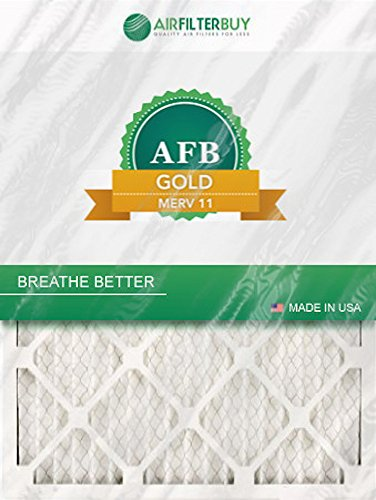 AFB Gold MERV 11 14x18x1 Pleated AC Furnace Air Filter. Pack of 4 Filters. 100% produced in the USA.