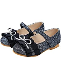Little Girls Casual Mary Jane Flats Glitter Dress Shoes of Various Styles
