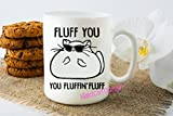 FLUFF YOU you Fluffing FLUFF Cat Mug, Cat Coffee Cup, Cat Gifts, Crazy Cat Lady, Funny Coffee Mugs, Cat Lovers Mug, Novelty Gifts, Christmas