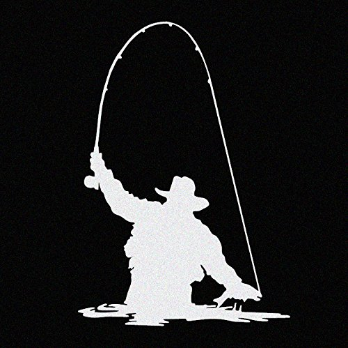 Trout Fishing Vinyl Car Window Decal Sticker White (Sea Trout Decal)