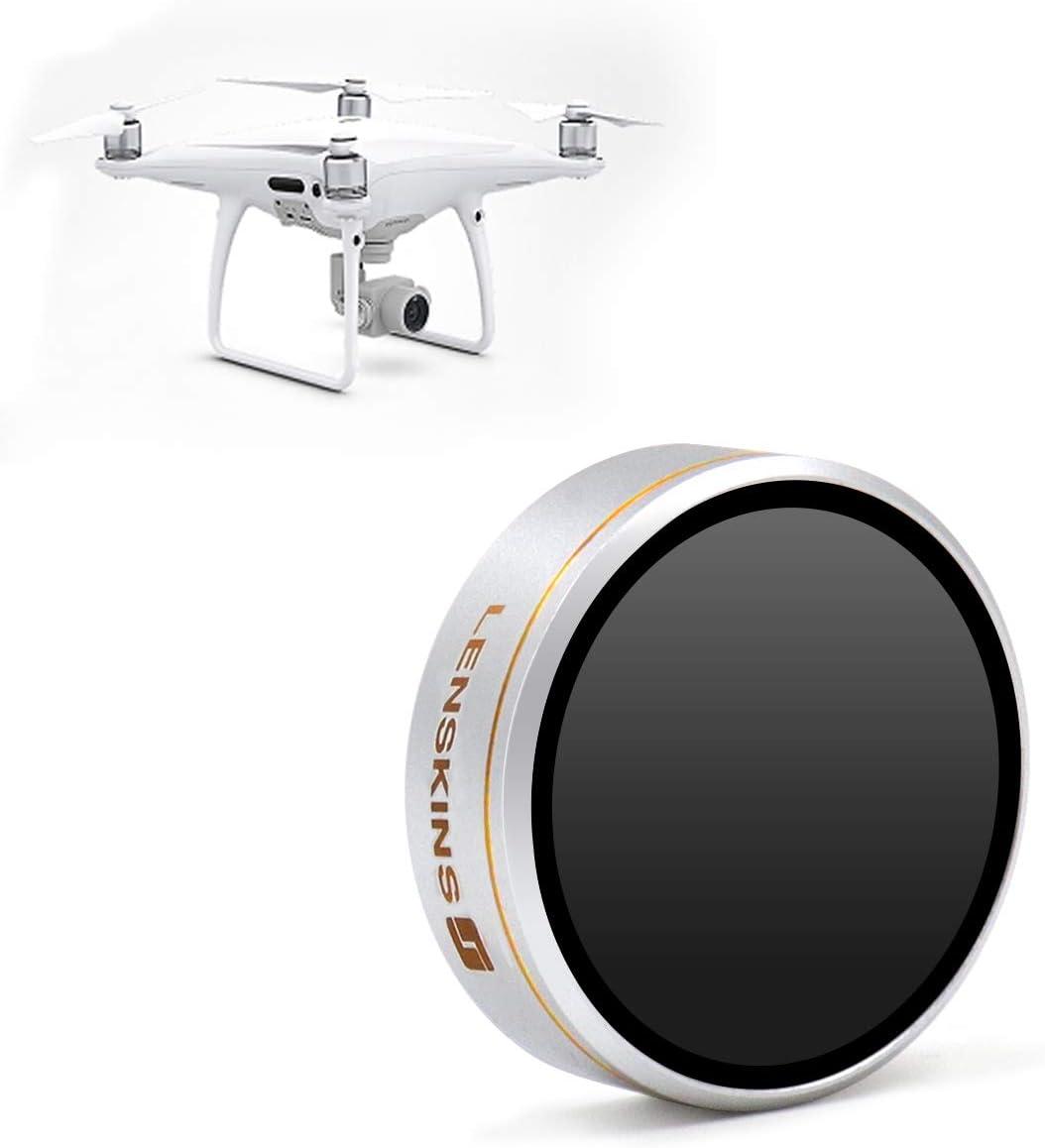 LENSKINS MRC ND8 Camera Lens Filter for DJI Phantom 4 Pro/Pro+/Advance, AGC Optics, Weather-Sealed, Multi-Resistant Coated Neutral Density Filter with Storage Case, Lens Cloth