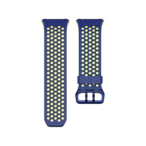 Fitbit Ionic Band, UMTELE Two toned Perforated Replacement Strap Breathable Accessory Wristband with Quick Lock&Release Buckle for Fitbit Ionic Smart Watch