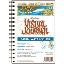 "Strathmore 460-59 400 Series Visual Watercolor Journal, 140 LB 9""x12"" Cold Press, Wire Bound, 22 Sheets"