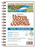 "Strathmore 400 Series Visual Watercolor Journal, 140 LB 5.5""x8"" Cold Press, Wire Bound, 22 Sheets (Misc.)"