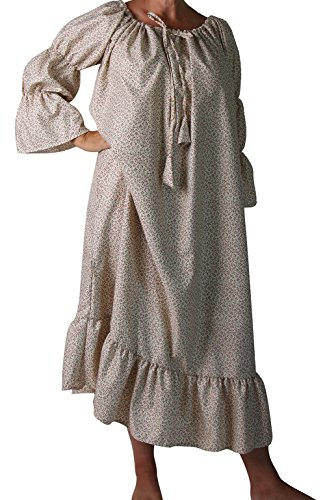 Making Believe Womens Chemise Peasant Dress (One Size, Cream)