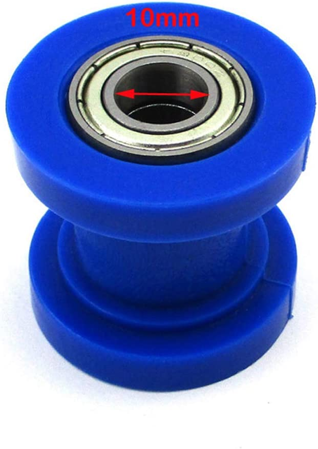 TC-Motor Blue 10mm Chain Roller Black Slider For Pit Dirt Trail Motor Bike Motocross
