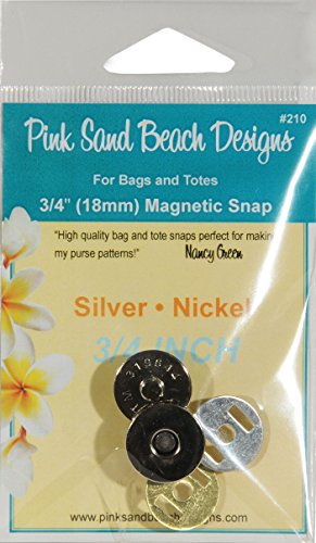 (Pink Sand Beach Magnetic Purse Snap Silver Nickel 3/4