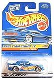 Mattel Hot Wheels 1998 1:64 Scale Race Team Series IV Blue Mercedes C-Class Die Cast Car 2/4