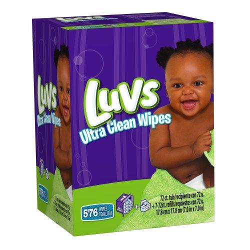 Luvs Ultra Clean Wipes 8x Tub + Refills 576 Count, Health Care Stuffs