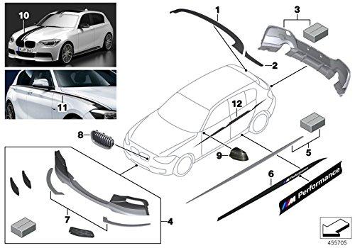 BMW Genuine Rear Window Fins Diffusers Black Matt 1 Series F20 F21 51192211893