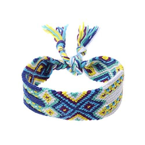 (Woven Bracelets Handmade Nepal Friendship Bracelets Beach Braid String Wrap for Wrist Ankle)