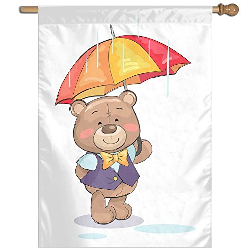 Xyou Little Bear Umbrellas Home Flag 27 X 37 Inch Decorative Sided Summer Garden Flag by Xyou