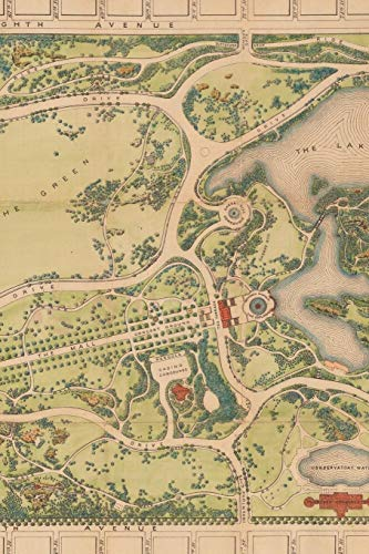 1873 Map of Central Park in Manhattan, New York City: A Poetose Notebook / Journal / Diary (100 pages/50 sheets) (Poetose Notebooks)