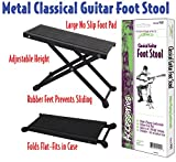 Performance Plus PGF1 Guitar Foot Stool Adjustable Height Black Metal Tour Grade Professional