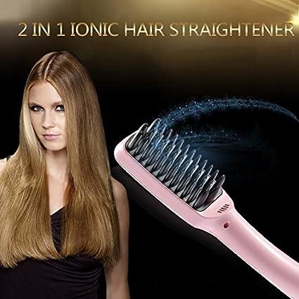 Fast pelo peine cabello 30 Segundo cepillo con pantalla LCD estilo hierro herramientas Anion cuidado del