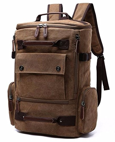 (NO 3)New Vintage Backpack Fashion Canvas Backpack Leisure Travel School Bags Unisex Laptop Backpacks Men Backpack - Canvas Healthy Back Bag
