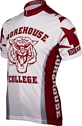 - Adrenaline Promotions NCAA Morehouse College Maroon Tigers Cycling Jersey, 3X-Large, Red
