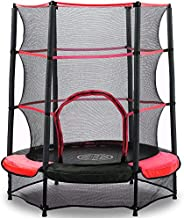 AOKCOS 54 Inch Kids Trampoline with Under Enclosed Safety Net & Waterproof Pad, Small Round Trampolines fo