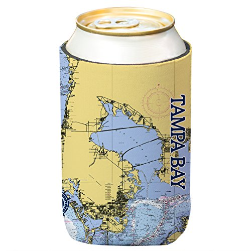 Altered Latitudes Tampa Bay Chart Standard Beverage Cooler - Altered Christmas Bottles