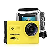 ICONNTECHS IT Action Camera for Sports Photography | UHD 4K/24fps, 1080P/60fps, IMX078 Sensor, 70-170 Wide Angle Lens, Waterproof up to 30m (Yellow)